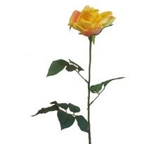 Umělá květina Růže, žlutá