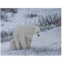 LED Obraz na plátně Bears in winter, 40 x 30 cm