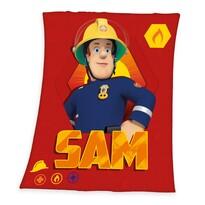 Detská deka Požiarnik Sam, 130 x 160 cm