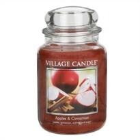 Village Candle Vonná svíčka Jablko a skořice  - Apple Cinnamon, 645 g
