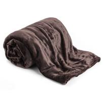 Pătură XXL/Cuvertură de pat maro închis, 200 x 220 cm