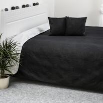 Doubleface fekete/fehér ágytakaró, 220 x 240 cm, 2x 40 x 40 cm