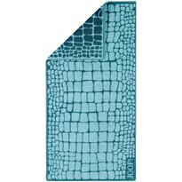 JOOP! Ręcznik kąpielowy Gala Croco Lagune, 80 x 200 cm