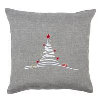 Povlak na polštářek Vánoční stromek šedá, 40 x 40 cm