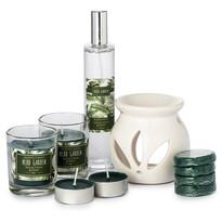 Set lumânări şi aroma-lampă Herb Garden Eucalyptus and mint, 10 buc.