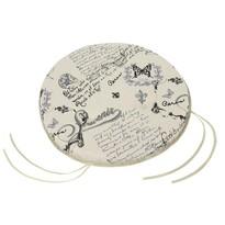 Sedák Dana hladký okrúhly List, 40 cm