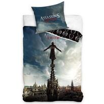 Pościel bawełniana Assassin's Creed Wieża, 140 x 200 cm, 70 x 80 cm