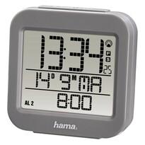 Hama RC 130 Digitální budík řízený rádiovým signálem, šedá