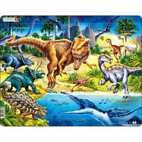 Larsen Puzzle Dinosauři z období Křídy, 57 dílků
