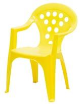 Detská stolička žltá