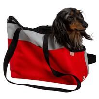 Transportná taška Boseň Prémium červeno-sivá, 30 cm
