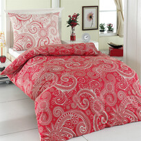Bavlnené obliečky Sal červená/biela, 220 x 200 cm, 2 ks 70 x 90 cm