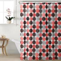 Sprchový záves Bodky červená, 180 x 180 cm