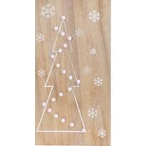 Christmas Tree világító ragasztható LED dekoráció, barna