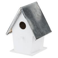 Domek dla ptaków, biały