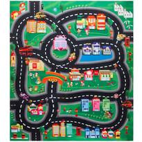 Mata do zabawy dla dzieci z samochodami Downtown, 70 x 80 cm