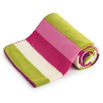 4home fleece pléd Vonalak rózsaszín, 130 x 170 cm