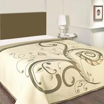 Prehoz na posteľ DOMINIC béžový, 140 x 220 cm
