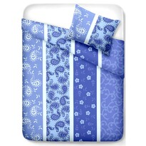 Krepové obliečky Pallas Vzor modrá, 140 x 200 cm, 70 x 90 cm