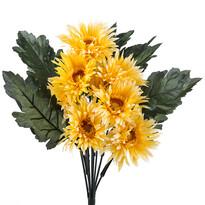 Umělá kytice gerber žlutá