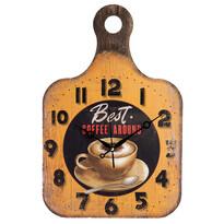 Nástenné hodiny Drevená doštička Coffee