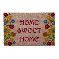 Rohožka Sweet Home flowers béžová, 40 x 60 cm