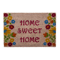 Wycieraczka Sweet Home flowers beżowy, 40 x 60 cm