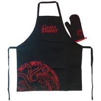 Komplet kuchenny Game of Throns, 2 szt., czarny
