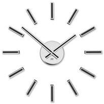 Future Time FT9400BK Modular black Designové samolepicí hodiny, pr. 40 cm
