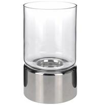 StarDeco Moderní svícen stříbrná, 22 cm