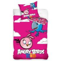 Dětské bavlnené obliečky Angry Birds Rio Pink Bird, 140 x 200 cm, 70 x 80 cm