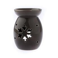 Ceramiczny kominek aromatyczny Płatek śniegu, szary