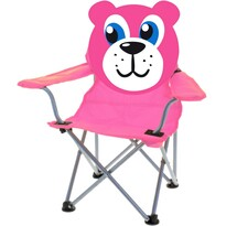 Scaun pliabil Teddy, pentru copii, roz
