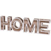 Dekorační dřevěný nápis Home, 38 cm