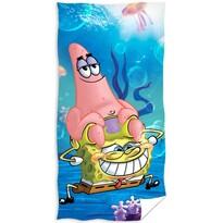 Ręcznik kąpielowy SpongeBob i Patrick, 70 x 140 cm
