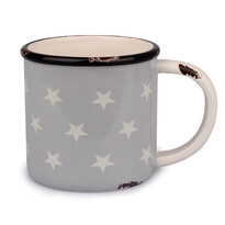 Keramický hrnek Hvězdy 400 ml, šedá