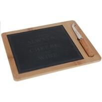 Excellent Deska do krojenia sera z nożem Bamboo, 30 x 24 cm