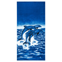 Ręcznik plażowy Delfiny, 70 x 150 cm
