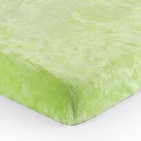 Cearşaf Micro-pluş verde, 90 x 200 cm