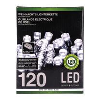 Vianočná svetelná reťaz, biela, 120 LED