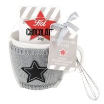 Darčeková sada hrnček s čokoládou, sivá, 400 ml