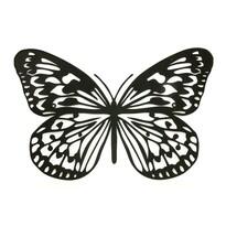 Decorație metal pentru perete Fluture, negru