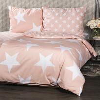Bavlnené obliečky New Stars lososová, 140 x 200 cm, 70 x 90 cm