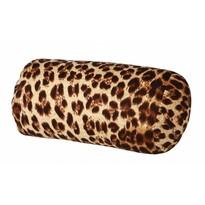 Vankúš valec s guľôčkami leopard, hnedá