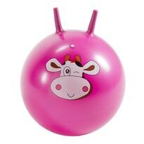 Piłka do skakania z uszami Krówka różowy, 45 cm