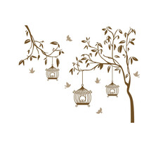 Stickere decorative păsările în cușcă