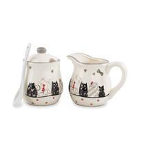 Ceramiczny dzbanek do mleka i cukierniczka Koty