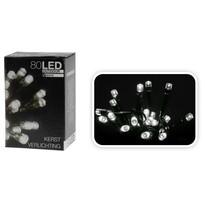 Vianočná svetelná reťaz, biela, 80 LED, 8 funkcií, biela