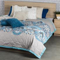 Cuvertură de pat Laissa turcoaz, 240 x 220 cm