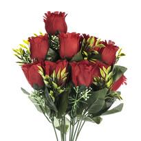 Umělá kytice Růže červená, 43 cm